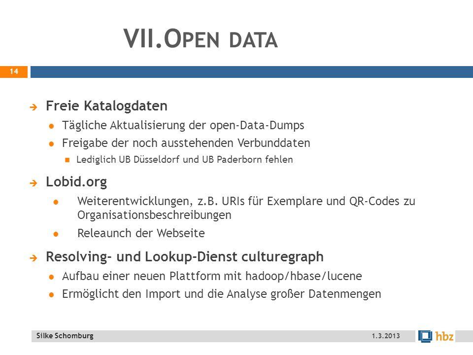 VII.Open data Freie Katalogdaten Lobid.org