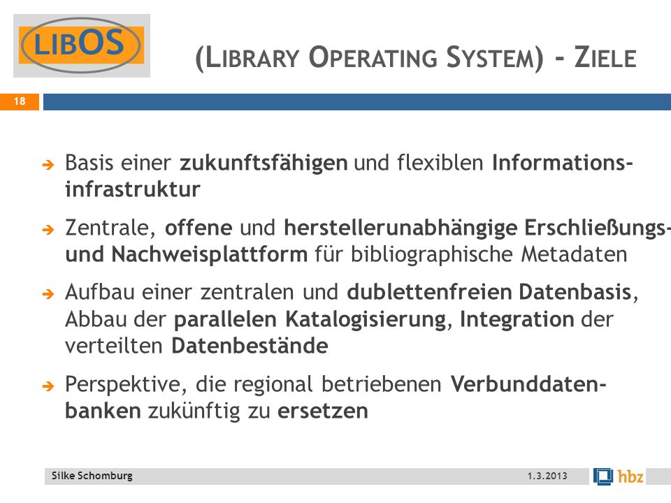 (Library Operating System) - Ziele