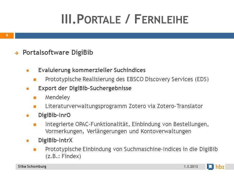 III.Portale / Fernleihe