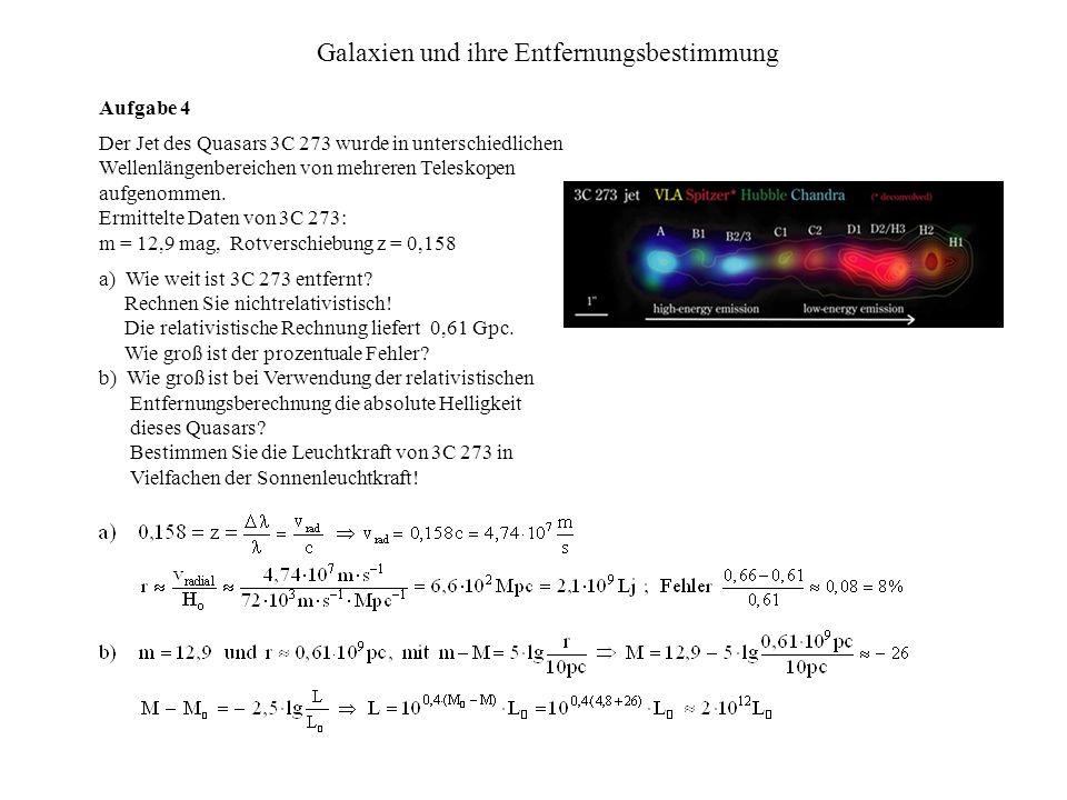 Galaxien und ihre Entfernungsbestimmung