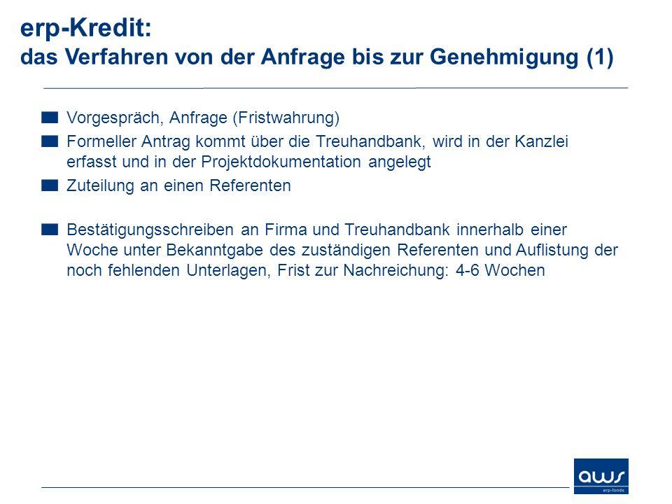 erp-Kredit: das Verfahren von der Anfrage bis zur Genehmigung (1)