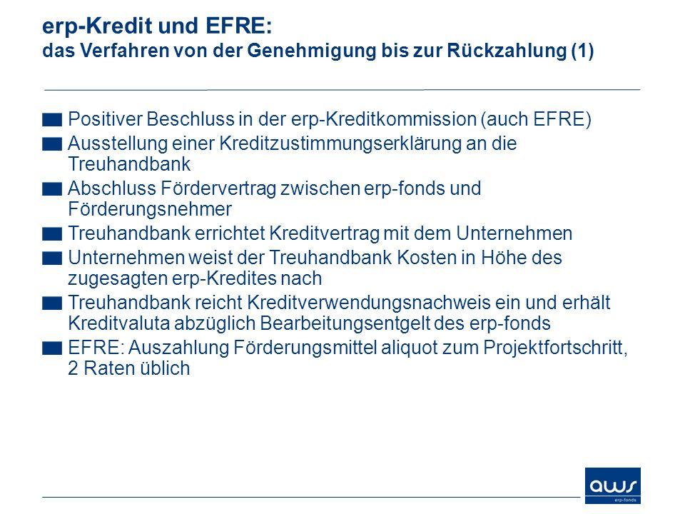 erp-Kredit und EFRE: das Verfahren von der Genehmigung bis zur Rückzahlung (1)