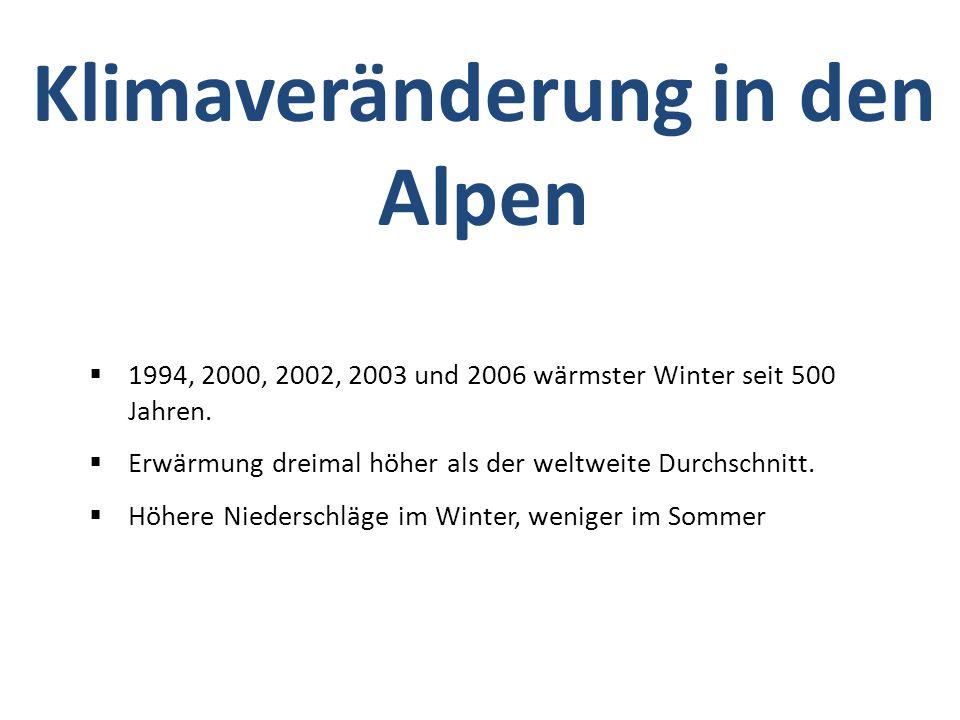 Klimaveränderung in den Alpen