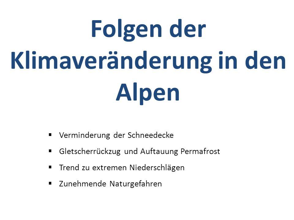 Folgen der Klimaveränderung in den Alpen
