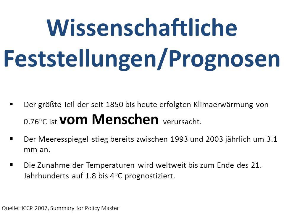 Wissenschaftliche Feststellungen/Prognosen