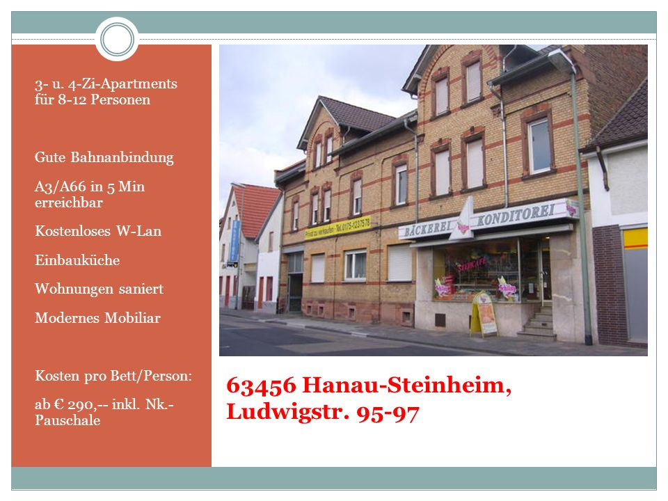 63456 Hanau-Steinheim, Ludwigstr. 95-97