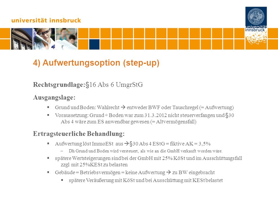 4) Aufwertungsoption (step-up)