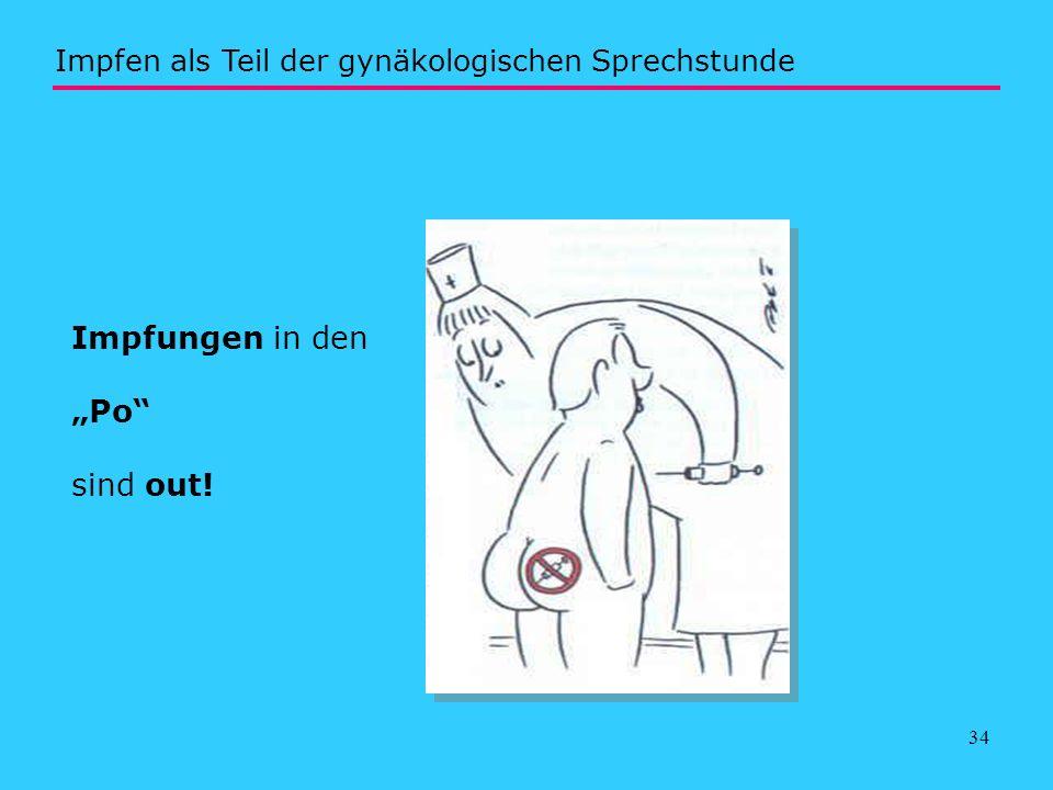"""Impfungen in den """"Po sind out!"""