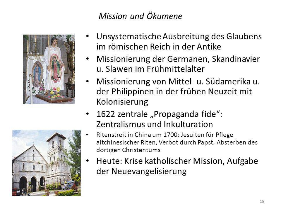 Missionierung der Germanen, Skandinavier u. Slawen im Frühmittelalter