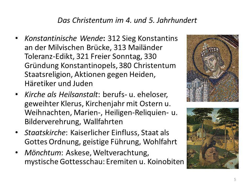 Das Christentum im 4. und 5. Jahrhundert