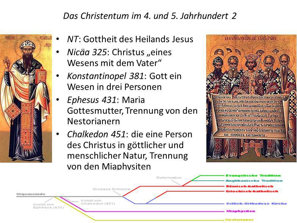 Das Christentum im 4. und 5. Jahrhundert 2