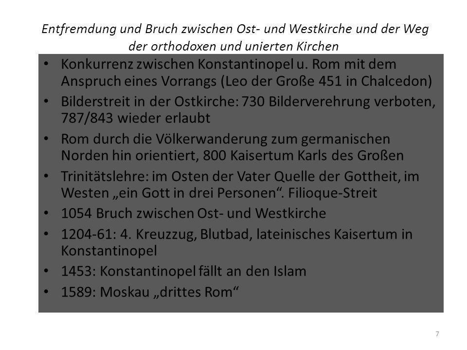 1054 Bruch zwischen Ost- und Westkirche