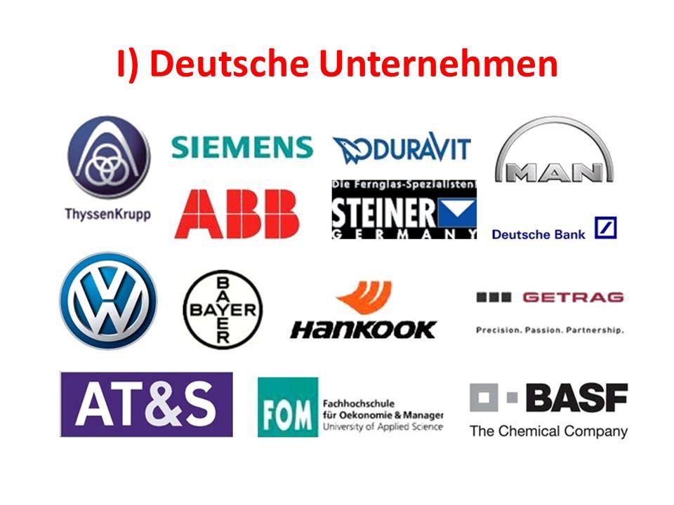 I) Deutsche Unternehmen