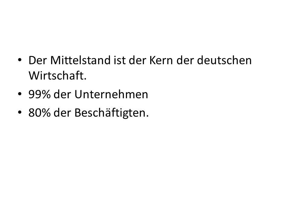 Der Mittelstand ist der Kern der deutschen Wirtschaft.