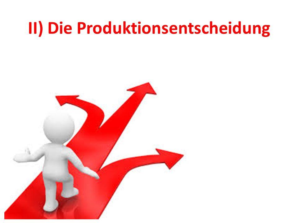 II) Die Produktionsentscheidung