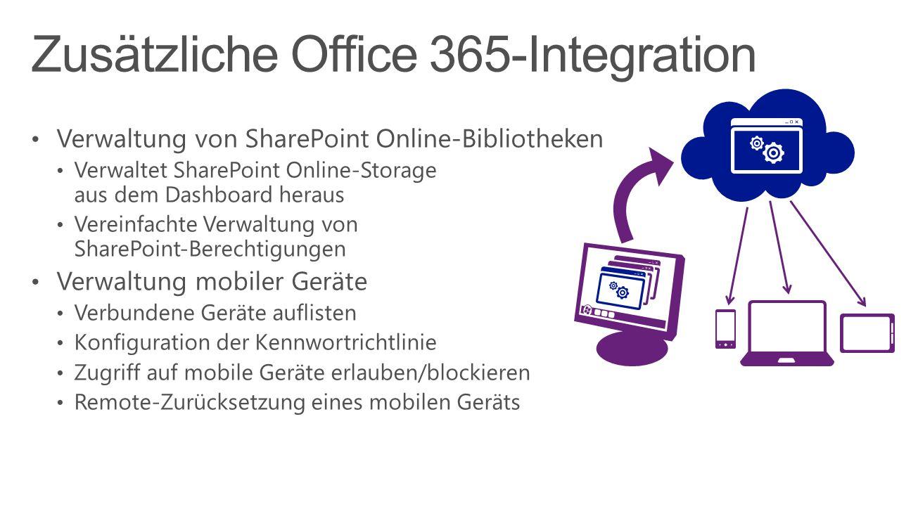 Zusätzliche Office 365-Integration