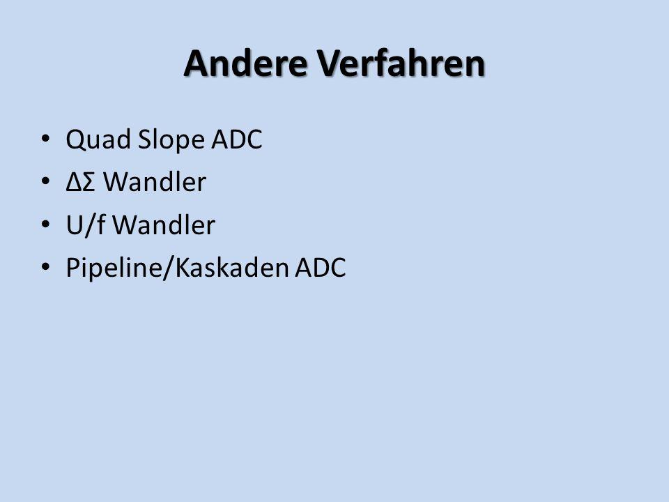 Andere Verfahren Quad Slope ADC ΔΣ Wandler U/f Wandler