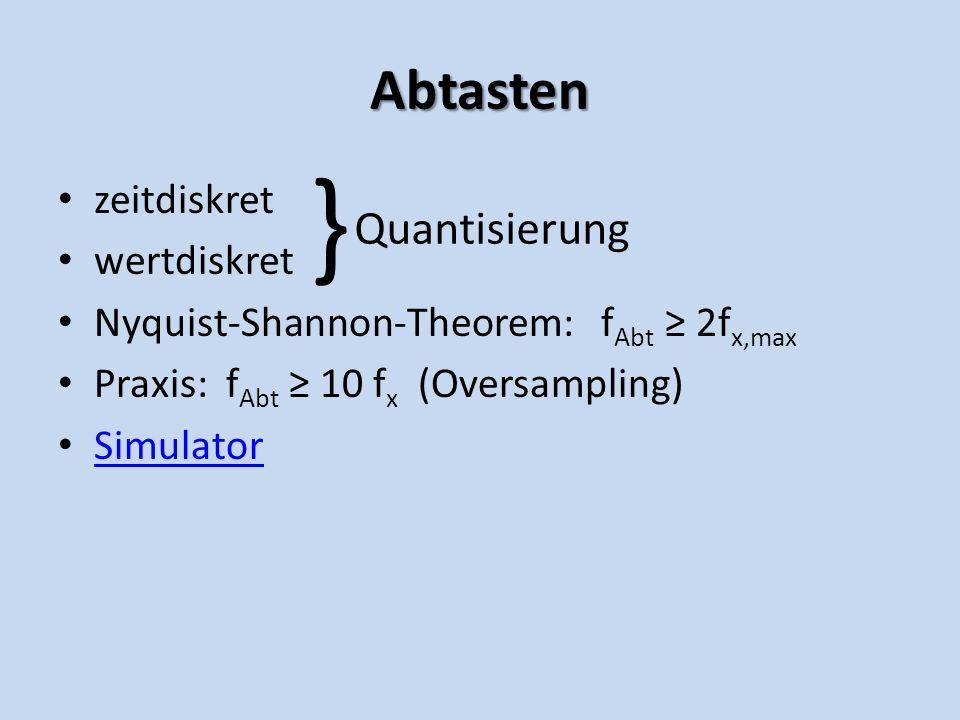 } Quantisierung Abtasten zeitdiskret wertdiskret