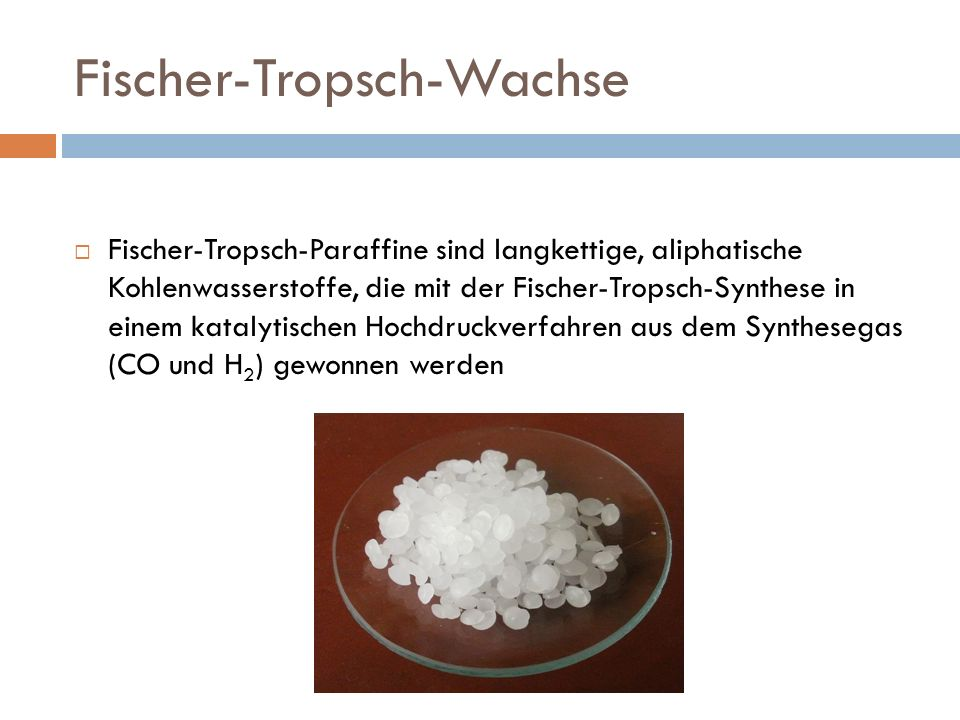 Fischer-Tropsch-Wachse