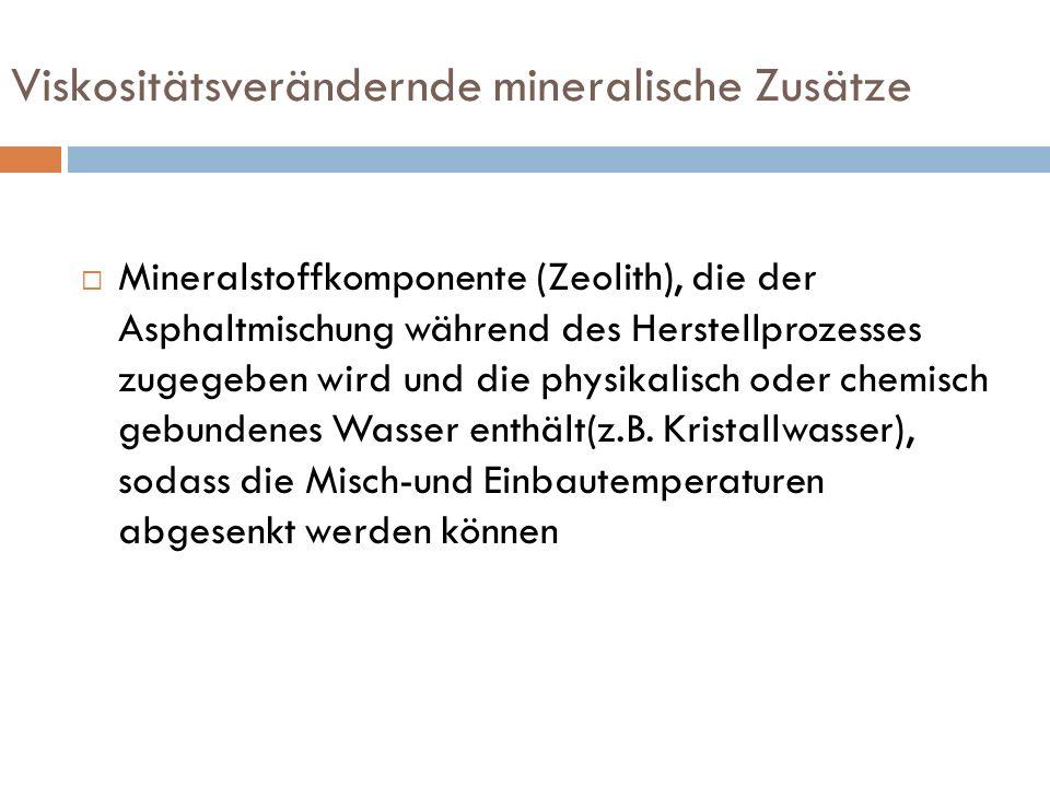 Viskositätsverändernde mineralische Zusätze