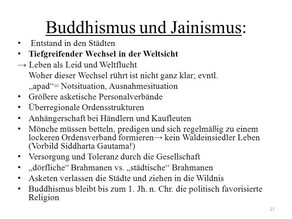 Buddhismus und Jainismus: