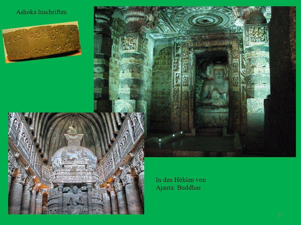 Ashoka Inschriften In den Höhlen von Ajanta: Buddhas