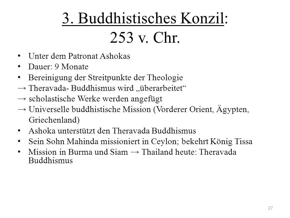 3. Buddhistisches Konzil: 253 v. Chr.