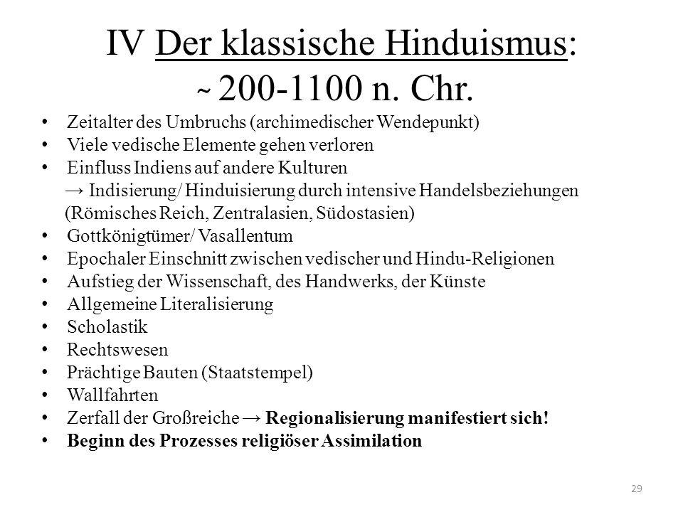 IV Der klassische Hinduismus: ̴ 200-1100 n. Chr.