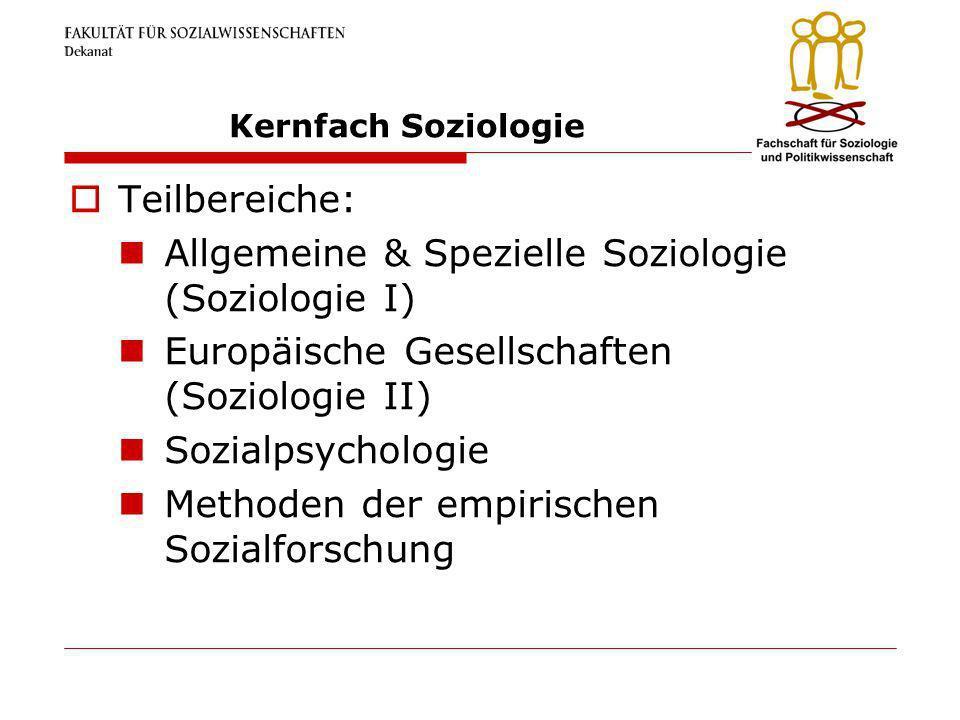 Allgemeine & Spezielle Soziologie (Soziologie I)