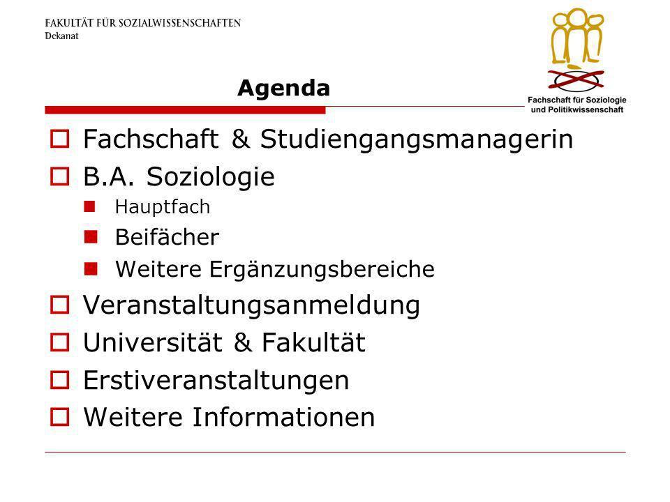 Fachschaft & Studiengangsmanagerin B.A. Soziologie