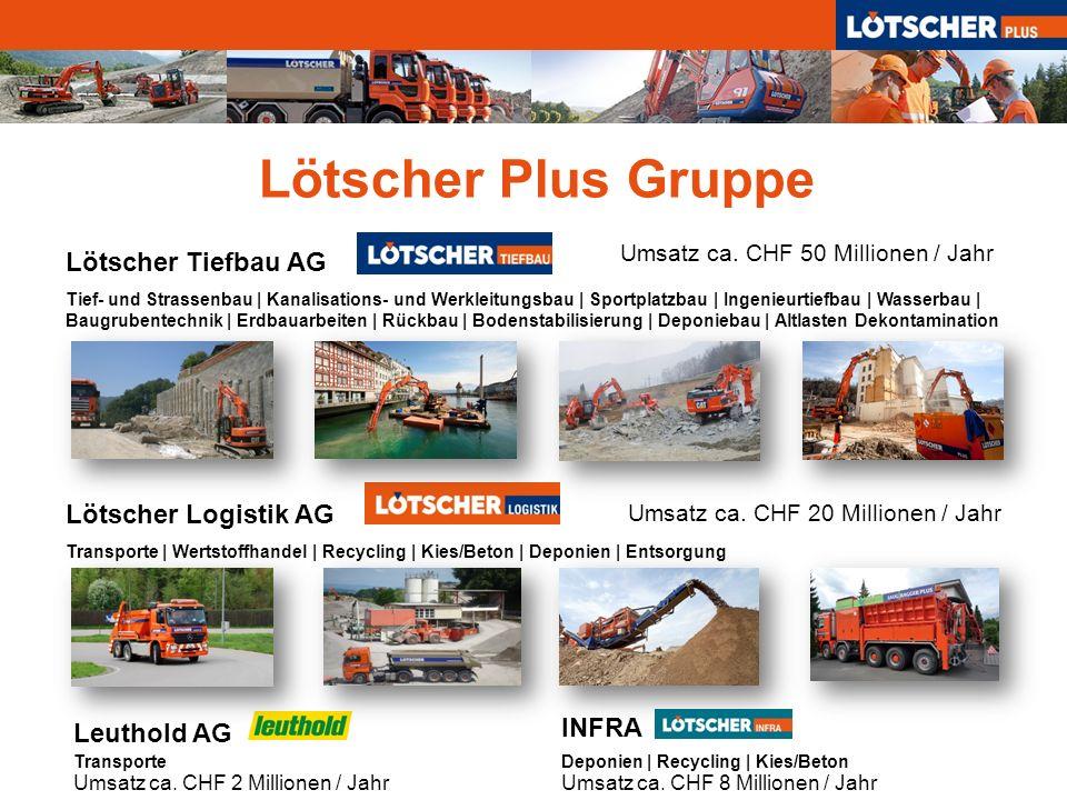 Lötscher Plus Gruppe Lötscher Tiefbau AG Lötscher Logistik AG INFRA