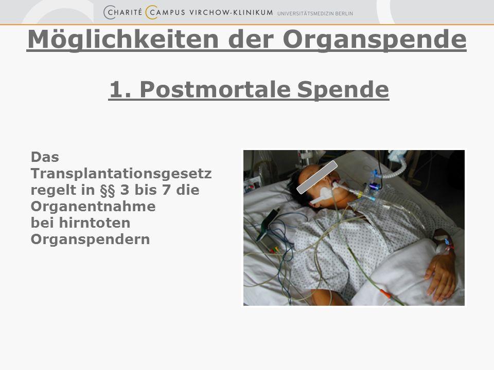 Möglichkeiten der Organspende
