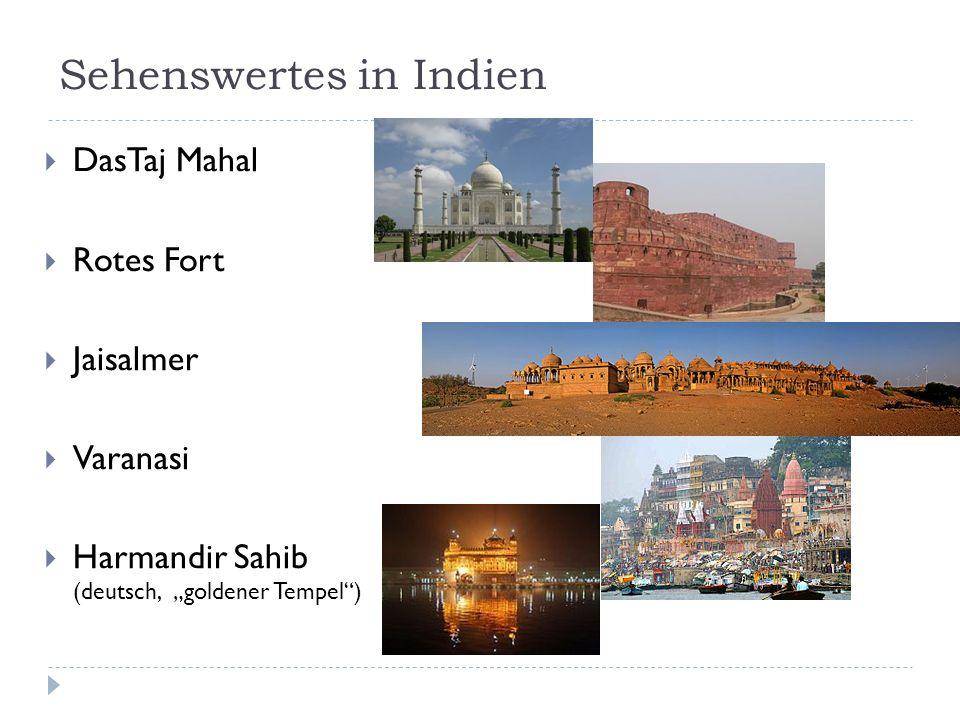Sehenswertes in Indien