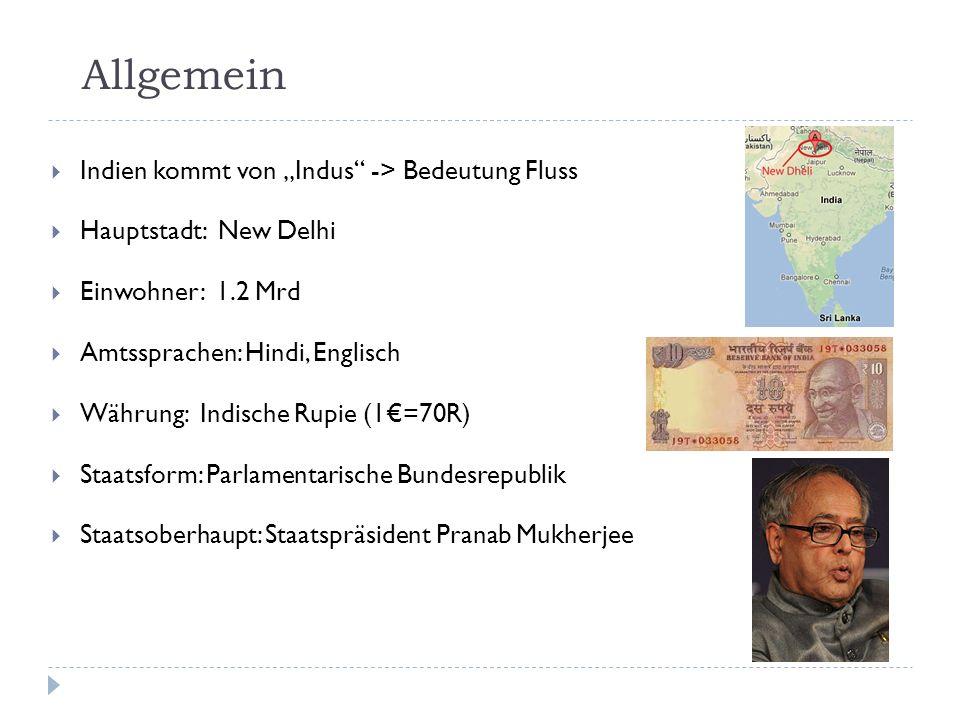 """Allgemein Indien kommt von """"Indus -> Bedeutung Fluss"""