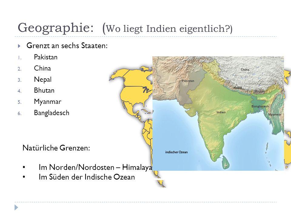 Geographie: (Wo liegt Indien eigentlich )