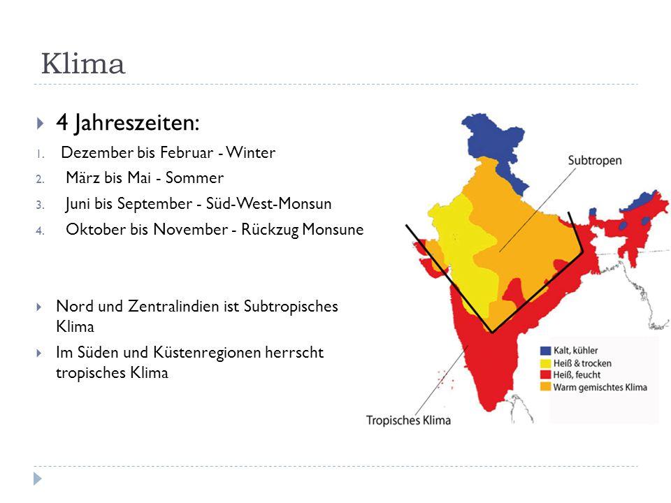 Klima 4 Jahreszeiten: Dezember bis Februar - Winter
