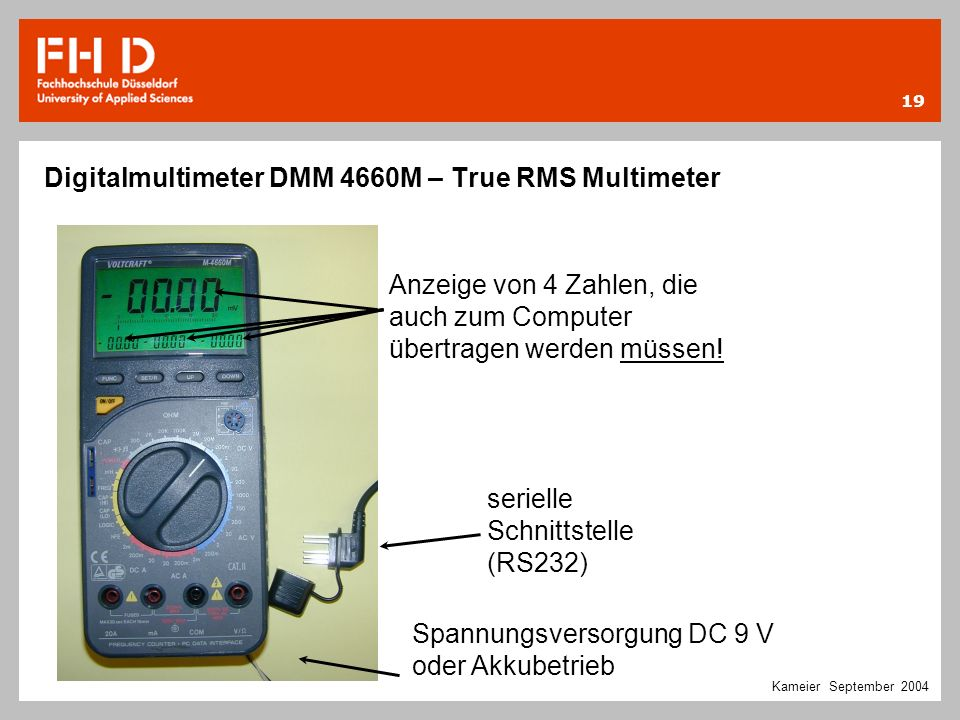 Digitalmultimeter DMM 4660M – True RMS Multimeter