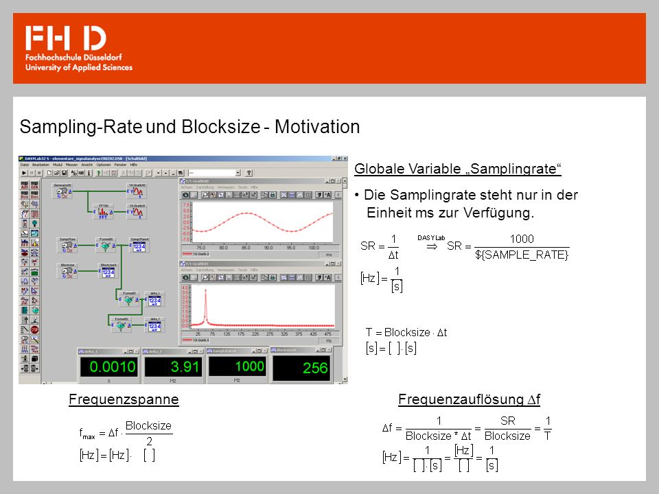 Sampling-Rate und Blocksize - Motivation