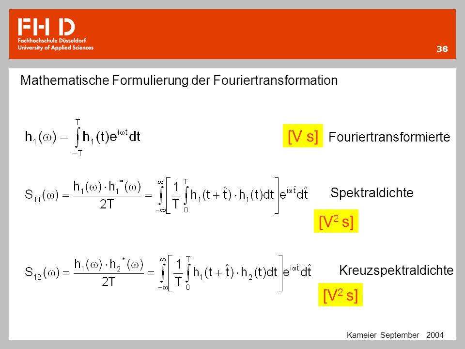 Mathematische Formulierung der Fouriertransformation