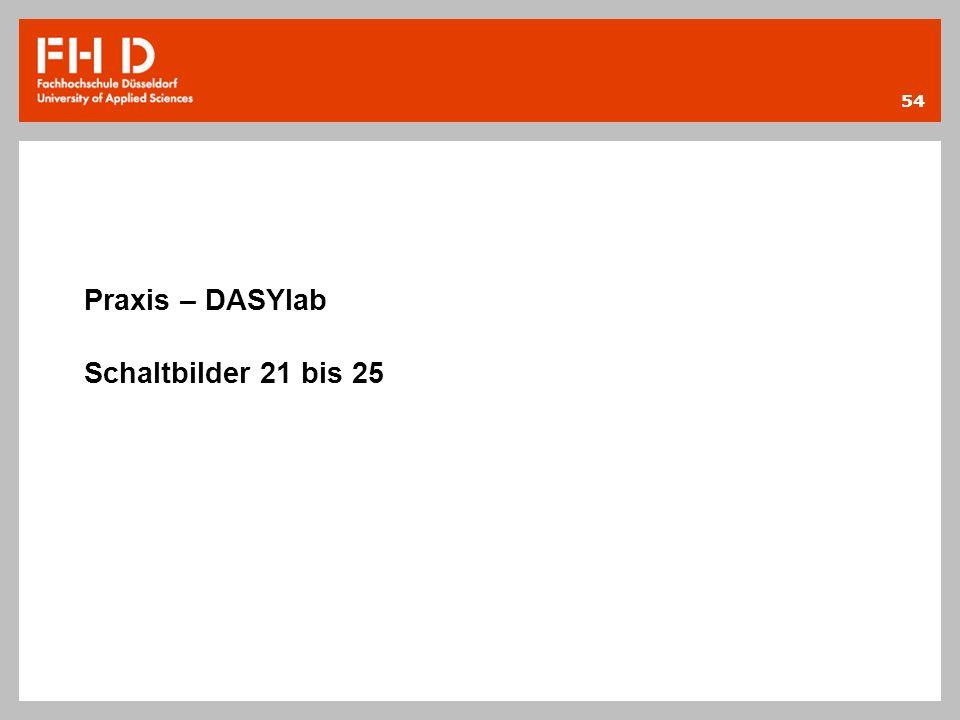 Praxis – DASYlab Schaltbilder 21 bis 25