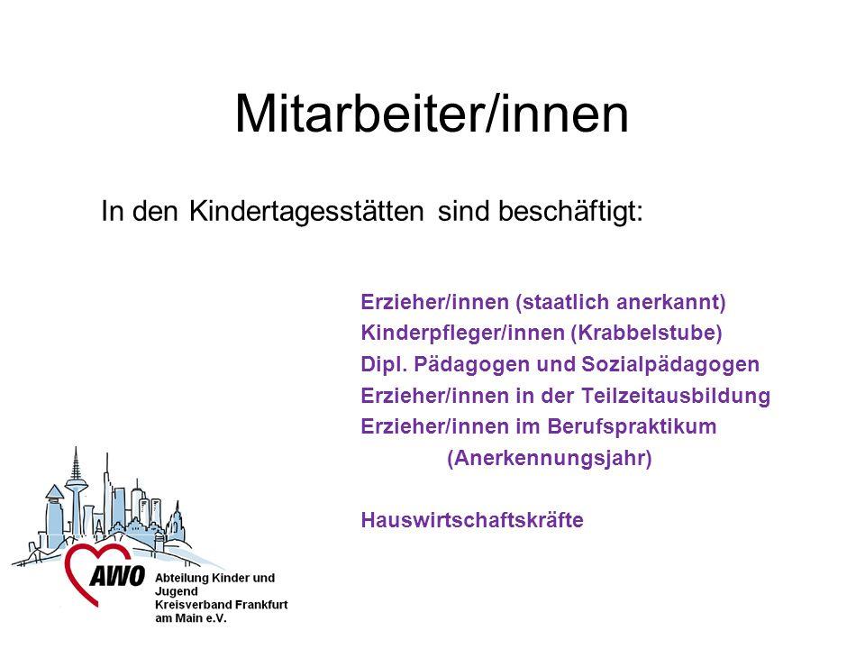 Mitarbeiter/innen In den Kindertagesstätten sind beschäftigt: