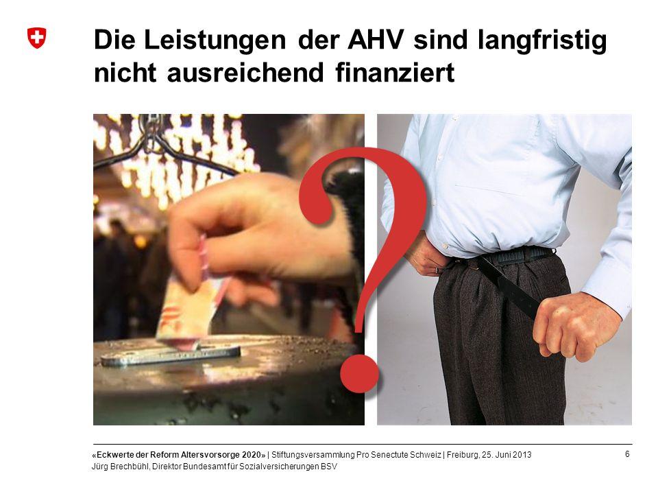 Die Leistungen der AHV sind langfristig nicht ausreichend finanziert