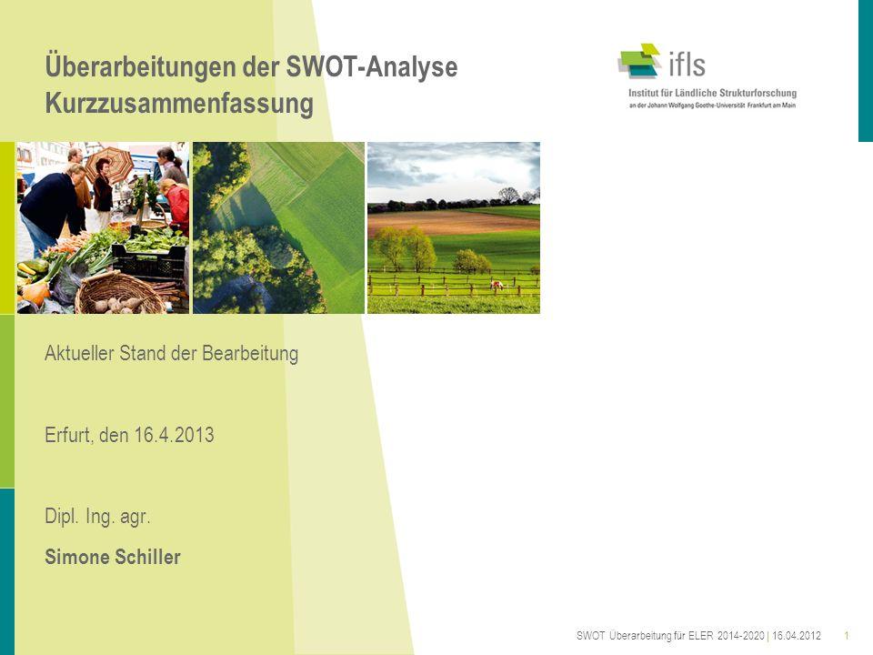 Überarbeitungen der SWOT-Analyse Kurzzusammenfassung