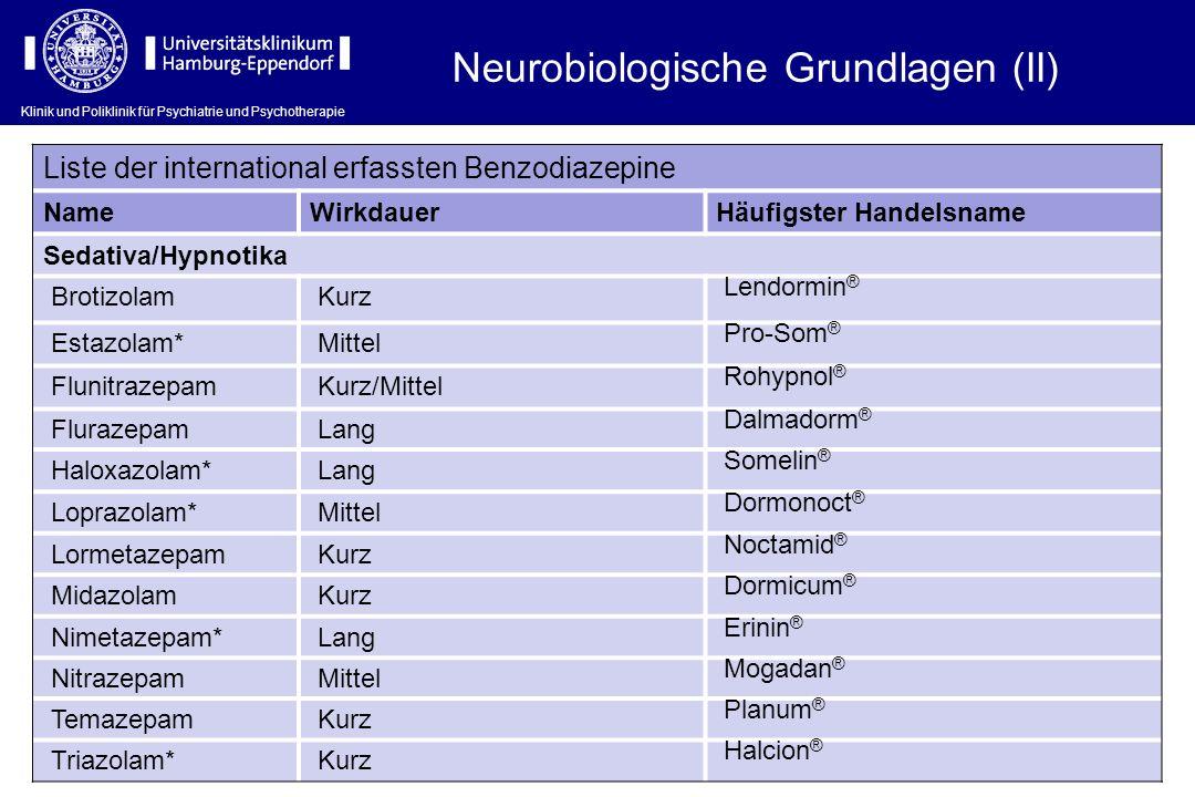 Neurobiologische Grundlagen (II)