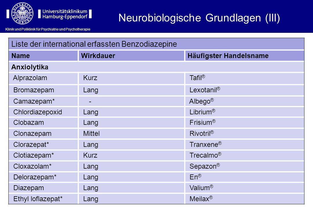 Neurobiologische Grundlagen (III)