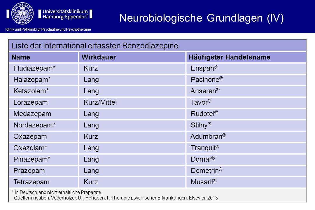 Neurobiologische Grundlagen (IV)