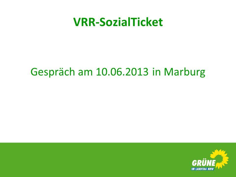VRR-SozialTicket Gespräch am 10.06.2013 in Marburg