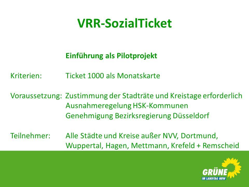 Einführung als Pilotprojekt Kriterien:. Ticket 1000 als Monatskarte