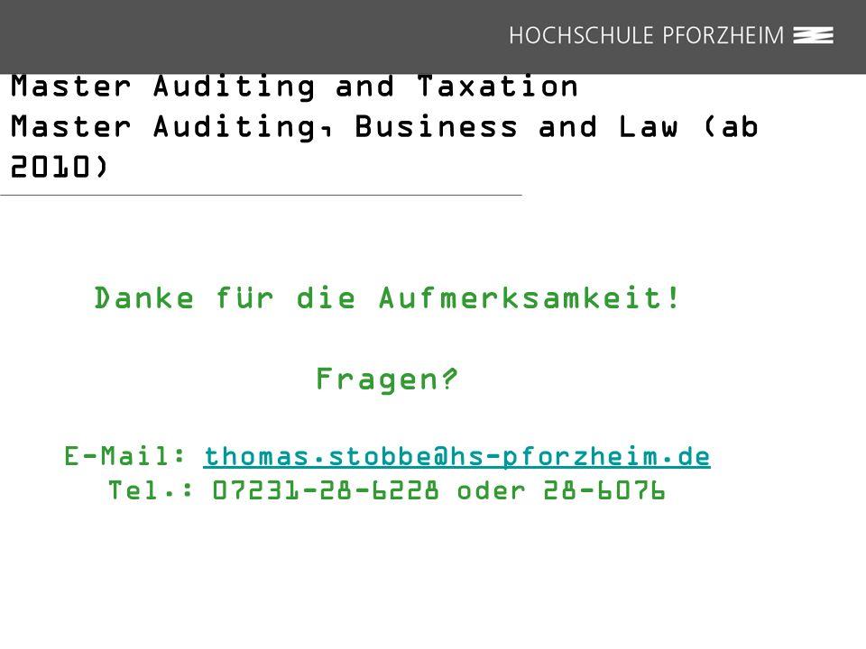 Danke für die Aufmerksamkeit! E-Mail: thomas.stobbe@hs-pforzheim.de