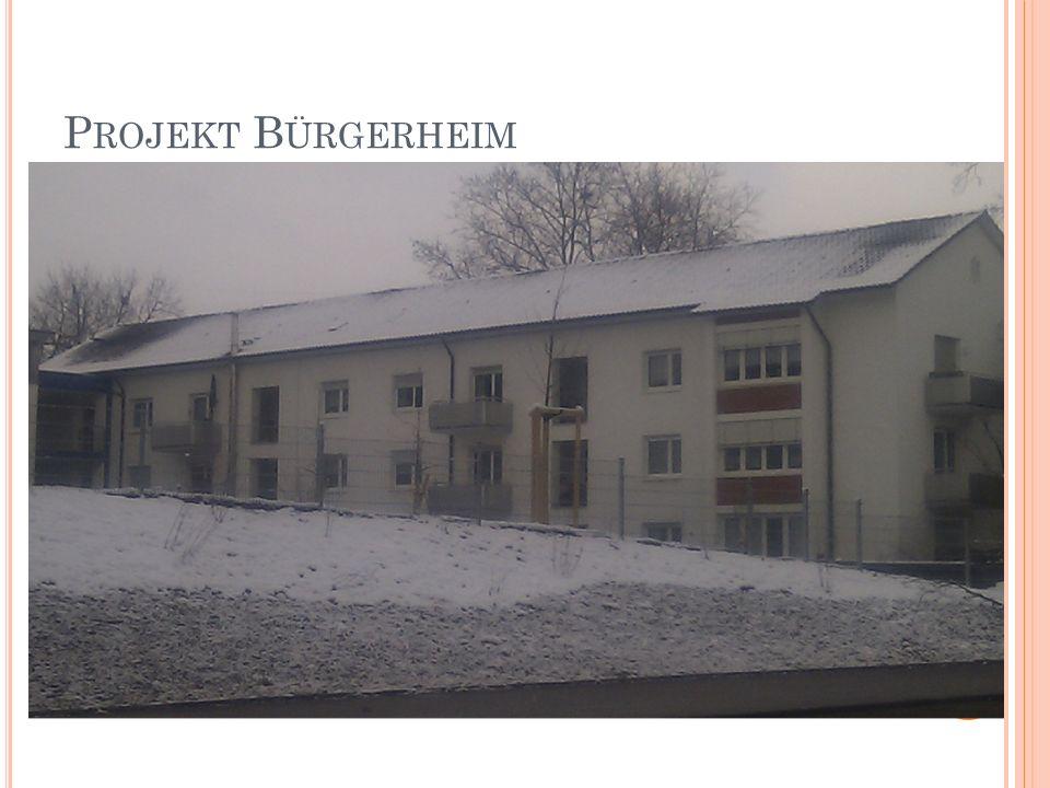 Projekt Bürgerheim Foto Bürgerheim, Gebäude A + Foto Gebäude Nollinger Straße 41/43
